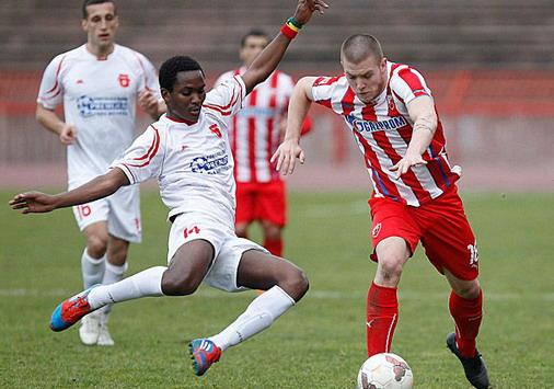 Detalj sa utakmice C.zvezda - Sloga Petrovac na Mlavi / foto: C:Z