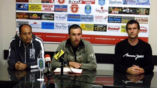 """Stručni šatb """"Sloge"""" na press konferenciji pred sutrašnju utakmicu / foto: I.Jovanović"""