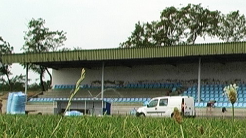 Nadkrivene tribine stadiona Đerdapa u Kladovu / Foto: U.Pejović