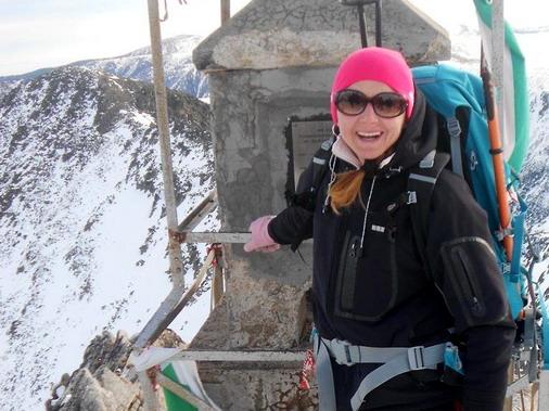 Andrijana Miletić u jednom od ranijih pohoda ka planinskom vrhu