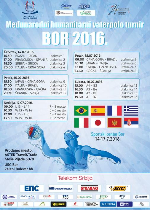 Raspored utakmica sa novom satnicom vaterpolo revije u Boru