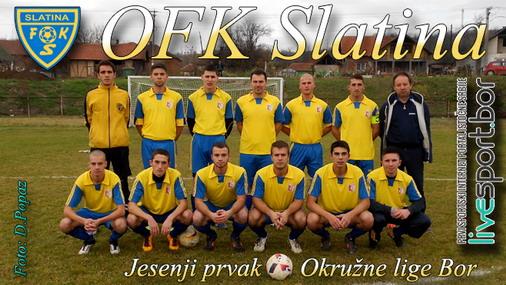Jesenji prvaci Okružne lige Bor tim OFK Slatina / foto: D.Popaz