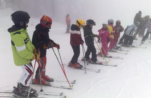 Najmlađi skijaši na snegu / foto: D.Popaz