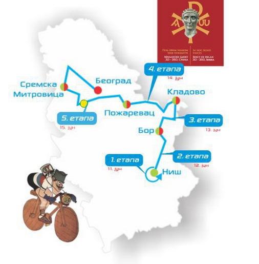 Raspored etapa biciklističke trke kroz Srbiju